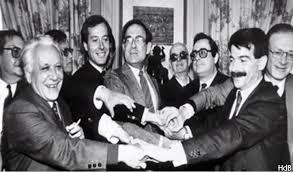 Dirigentes fundadores de Izquierda Unida